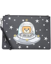 Moschino - Medium Ufo Teddy Envelope With Logo - Lyst