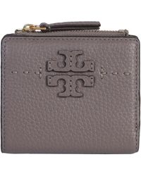 Tory Burch - Mini Mcgraw Wallet In Hammered Leather - Lyst