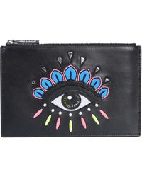 KENZO - Embroidered Clutch Bag - Lyst
