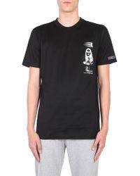 Lanvin - Cotton T-shirt With Symbol Branding Print - Lyst