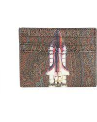 Etro - Rocket Printed Card Holder - Lyst