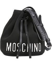 Moschino - Neoprene Bucket Bag With Logo - Lyst