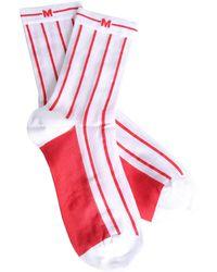 MSGM - Striped Stretch Socks - Lyst