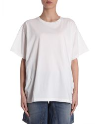 MM6 by Maison Martin Margiela - T-shirt Oversize Fit Con Stampa Sul Retro - Lyst