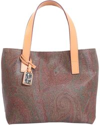 Etro - Paisley Mini Tote With Leather Handle - Lyst
