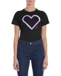 Carven - Neon Heart Round Collar T-shirt - Lyst