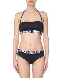Moschino - Logo Band Bikini Bottoms - Lyst