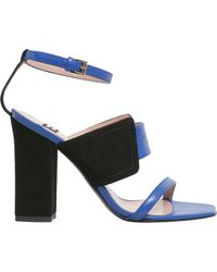 Boutique Moschino | Color Block Suede And Leather Sandals | Lyst