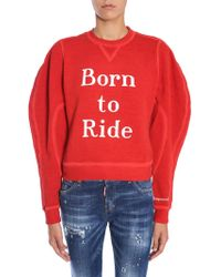 DSquared² - Printed Jodhpur Fit Cotton Sweatshirt - Lyst