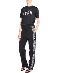 DSquared² - Cady Wool JOGGING Trousers With Side Logo Band - Lyst
