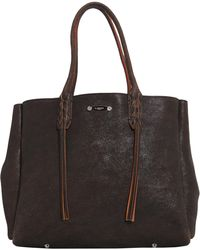 Lanvin - Fringed Small Shopper Leather Bag - Lyst