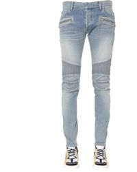 67f5b8d1 Balmain Biker Jeans - Men's Balmain Biker Jeans - Lyst