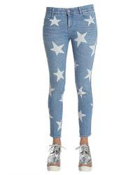 53047c4a37b Hudson Jeans Luna Skinny Crop Star Stud Jeans in Black - Lyst