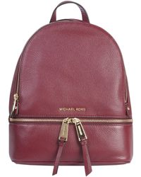 Michael Kors Burgundy Leather Backpack