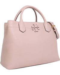 Tory Burch - Mcgraw Tote Bag In Pebbled Leather - Lyst