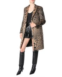 Saint Laurent - Animalier Printed Chesterfield Coat - Lyst
