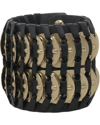 DSquared² - Samurai Bracelet With Brass Insert - Lyst