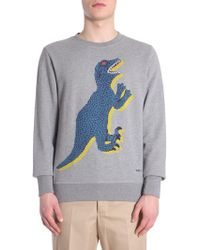 PS by Paul Smith - D/no Printed Round Collar Cotton Sweatshirt - Lyst