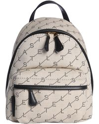 Stella McCartney - Small Monogram Backpack In Canvas - Lyst