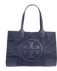 85db2d689aef Tory Burch - Mini Ella Tote Bag In Technical Fabric With Logo - Lyst