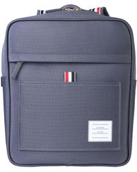 Thom Browne Mixed Cotton Backpack With Zip