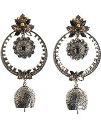 Alexander McQueen | Silver-tone Crystal And Bead Earrings | Lyst