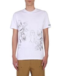 "Lanvin - ""dragon People"" Printed Cotton T-shirt - Lyst"