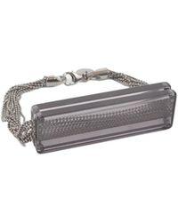MM6 by Maison Martin Margiela - Bracelet With Acrilic Plate - Lyst