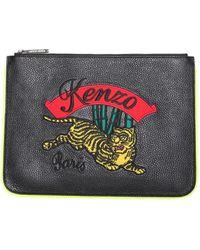 KENZO - Bamboo Tiger Clutch Bag - Lyst