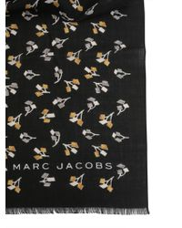 Marc Jacobs - Sciarpa Geo Flowers In Misto Viscosa - Lyst