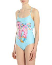 Moschino | My Little Pony One Piece Swimsuit Light Blue | Lyst