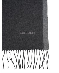 Tom Ford - Silk Scarf With Fringes - Lyst