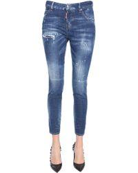 DSquared² Cool Girl Fit Stretch Denim Jeans - Blue
