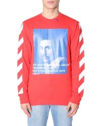 Off-White c/o Virgil Abloh - Bernini Printed Long Sleeve Cotton T-shirt - Lyst