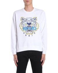KENZO - White Tiger Appliqué Sweatshirt - Lyst