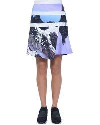 Peter Pilotto - Printed Satin Viscose Skirt - Lyst