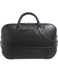 Alexander McQueen - Calf Leather Harness Briefcase - Lyst