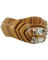 DSquared² Wooden Bracelet With Jewel Appliqués