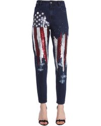 Amen - New Boyfriend Jeans With Embroidered American Flag - Lyst