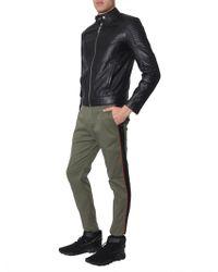 Les Hommes - Leather Biker Jacket - Lyst