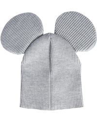 27e7dc25910 Comme des Garçons - Mixed Wool Mouse Hat - Lyst