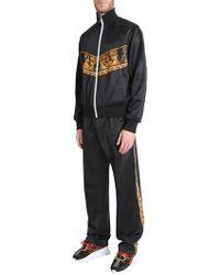 Versace - Baroque Print Zipped Sweatshirt - Lyst