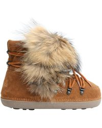 DSquared² - Riri Racoon Fur & Suede Snow Boots - Lyst