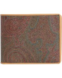 Etro - Paisley Printed Wallet With Leather Details - Lyst