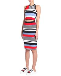 b91fe0fc Lyst - Tommy Hilfiger Womens A-line Side Pocket A-line Skirt in Red