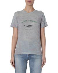 72fd00f9572d7d Equipment  slim Signature  Bird Print Silk Crepe Shirt in Black - Lyst
