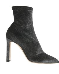 Jimmy Choo - TRONCHETTO LOUELLA A PUNTA IN VELLUTO STRETCH METALLIC - Lyst