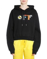 Off-White c/o Virgil Abloh - Hooded Cotton Sweatshirt With Flags Print - Lyst