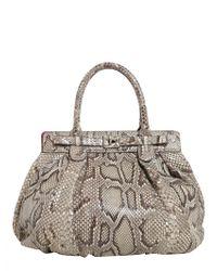Zagliani - Puffy Python Leather Bag - Lyst