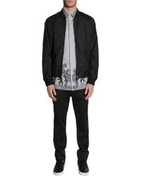 Versace | Baroque Embroidered Bomber Jacket In Technical Fabric | Lyst